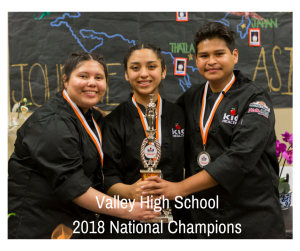 After their 1st place finish in the Greater OC competition, Valley HS wins 1st Place in the National Cooking up Change finals